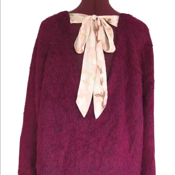 Free People Alpaca Oversized Sweater Peru Rare S/M